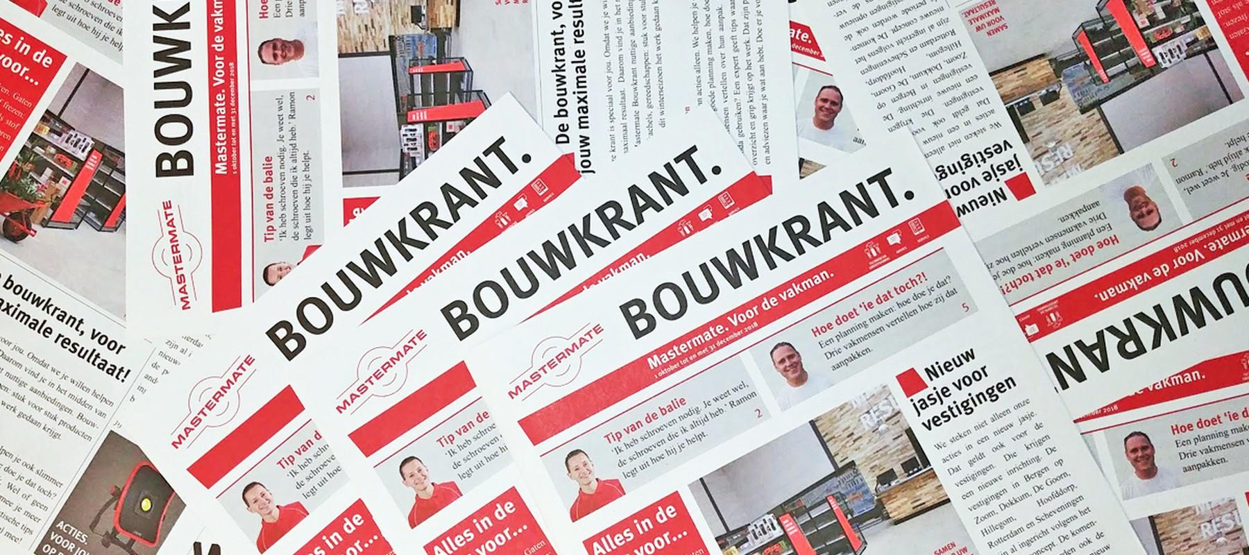 Nieuw: Mastermate Bouwkrant. Voor de vakman.