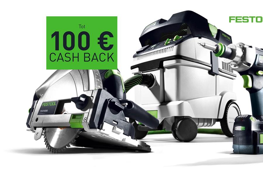 Actie - Tot 100 euro cashback bij Festool