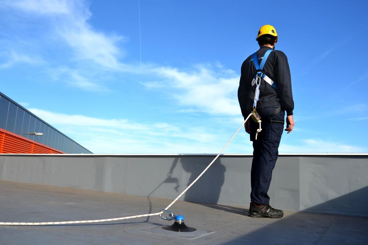 permanente valbeveiliging: ankerpunten op het dak