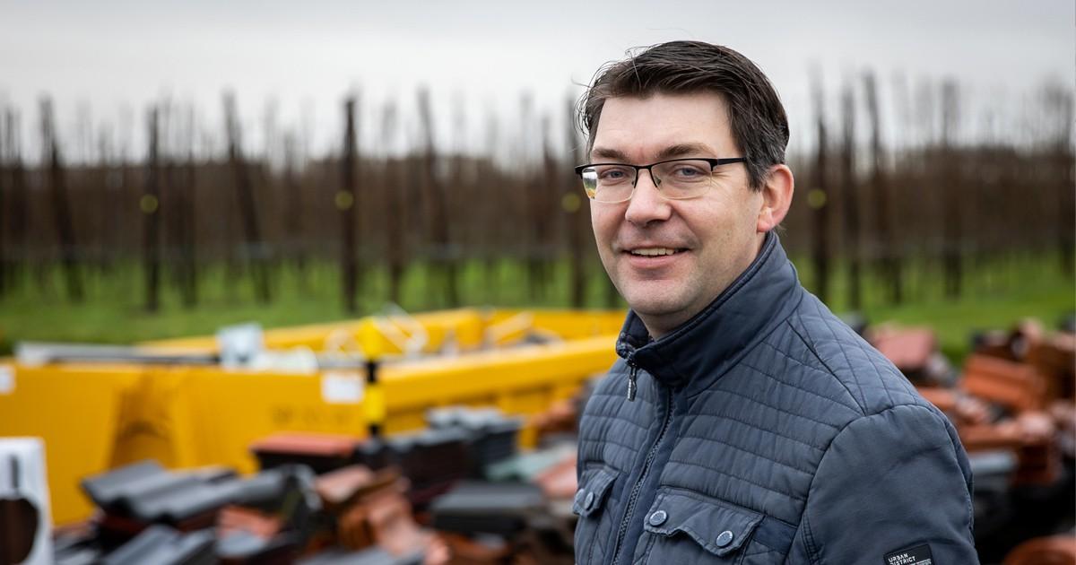 Peter Kraamer, bedrijfsleider Bouwbedrijf Krijger, Poortvliet.